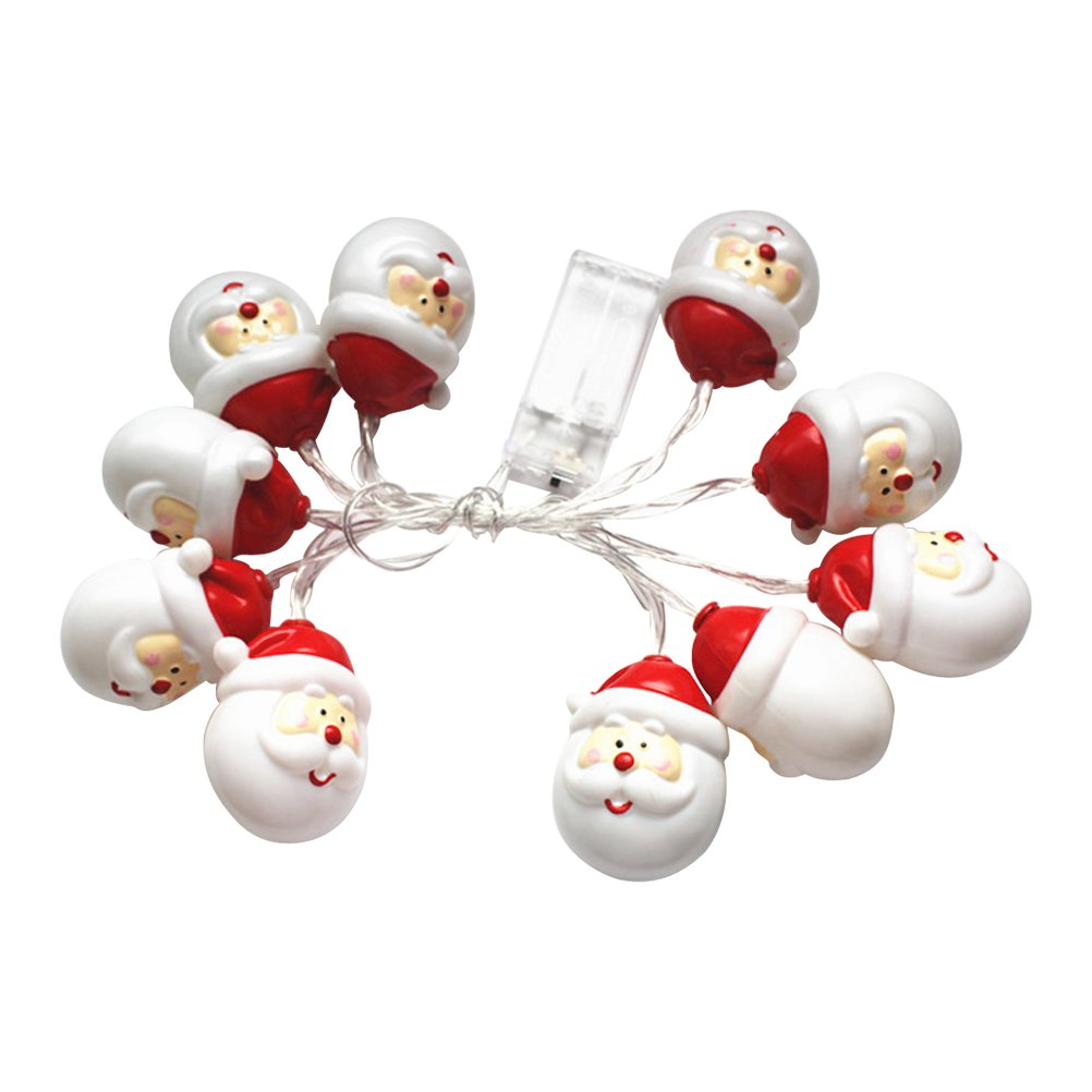 LED Christmas Santa Claus String Lights with 10 Led Lamps for Indoor ...