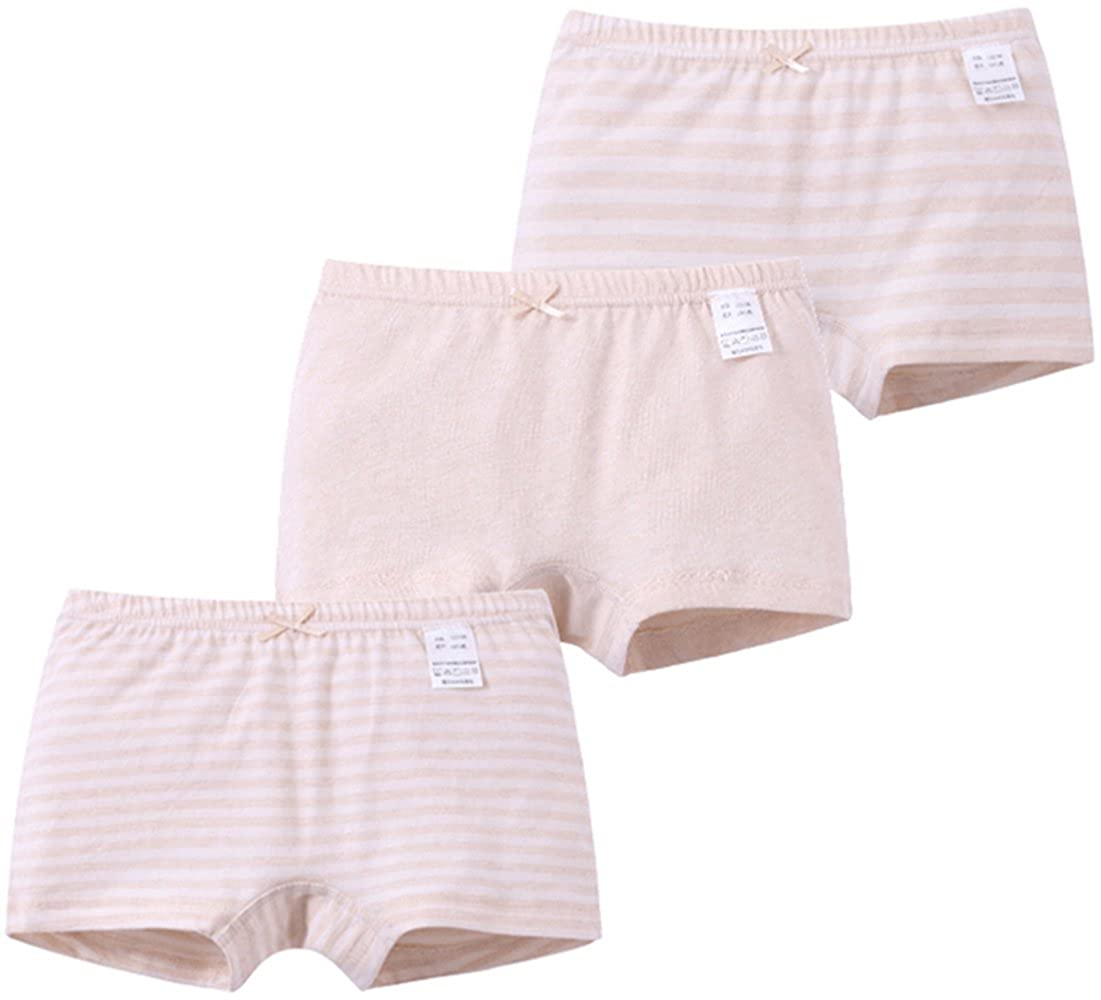 MAMDADKIDS Girls Panties Underwear Briefs Underpants 3 in Pack Collection Soft Natural Color Cotton for Baby Girls Model 2)