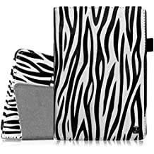 Fintie Folio Case for Fire HD 6 - Slim Fit Vegan Leather Standing Protective Cover with Auto Sleep/Wake Feature (will only fit Amazon Kindle Fire HD 6, 6-Inch HD Display Tablet 2014 Release), Zebra