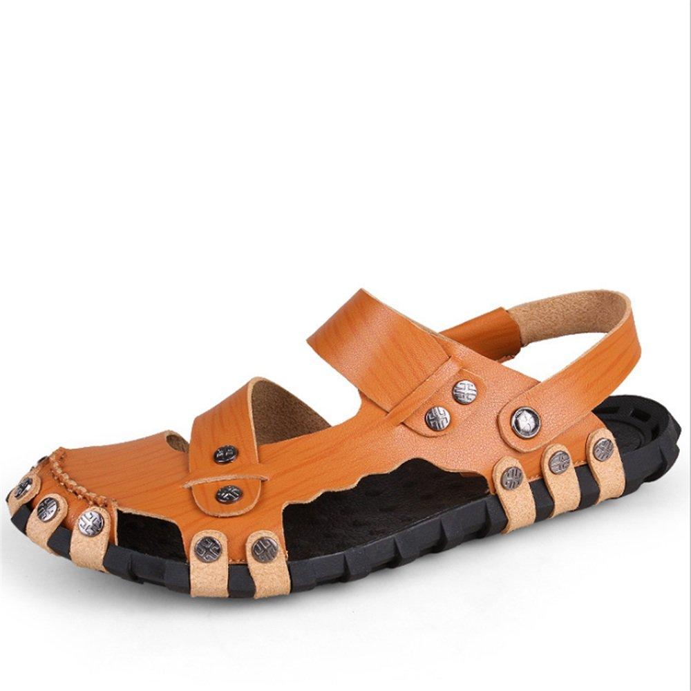Zapatillas Sandalias De Playa Sandalias Casuales Y Antideslizantes para Hombres Sandal Brown (24.0-27.0) CM Zapatos de Playa 41 1/3 EU|Marrón