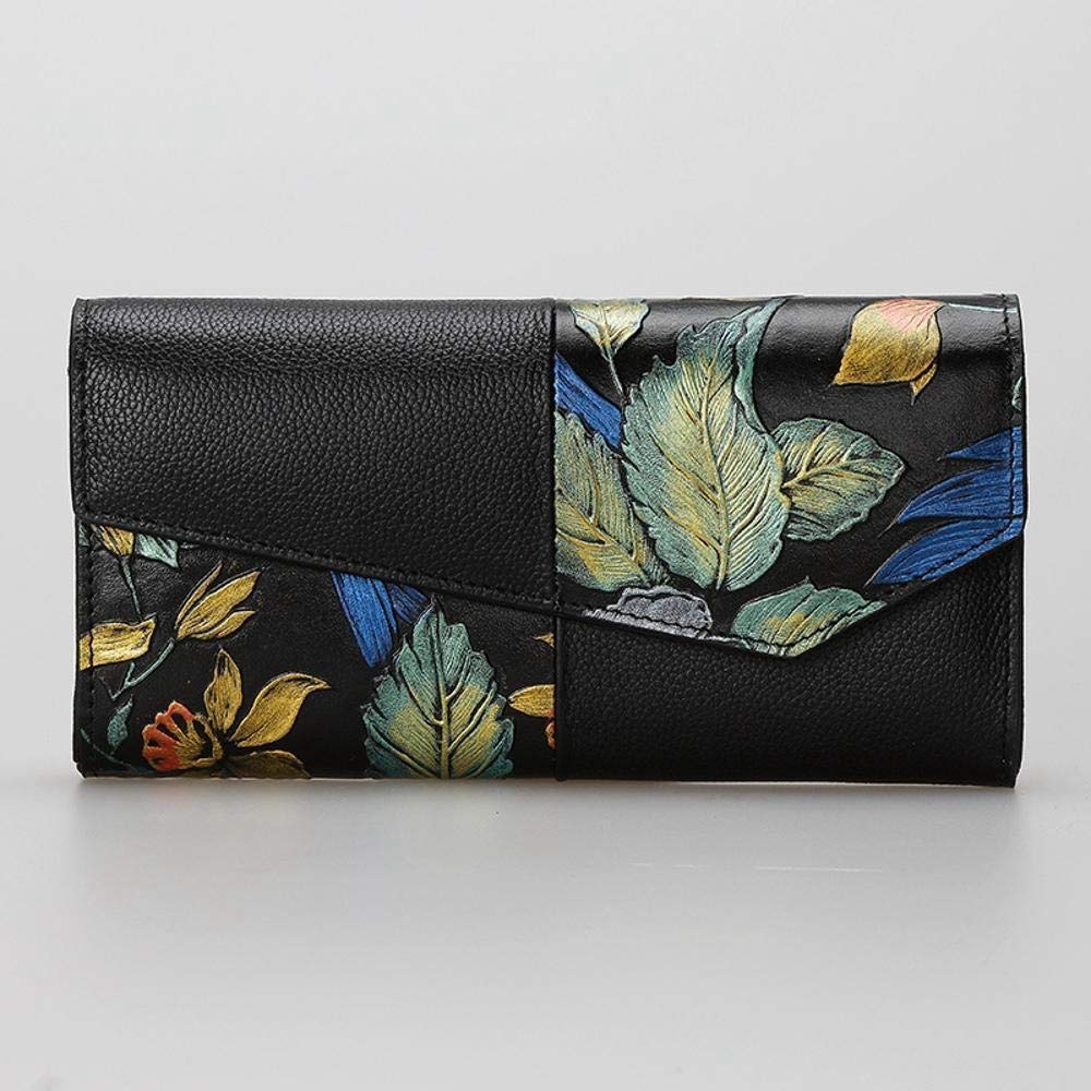 B ZhiGe Women's Wallet Leather HandPainted Wallet Women's Purse a Phone Bag Hand Bag 19  3  9.5cm