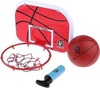 Fenteer Bambino Portatile Basket Giocattoli per Bambini di Sport Educativi Canestro da Basket con Palla Set Fun Ufficio Giocattolo Coperta Regalo - B