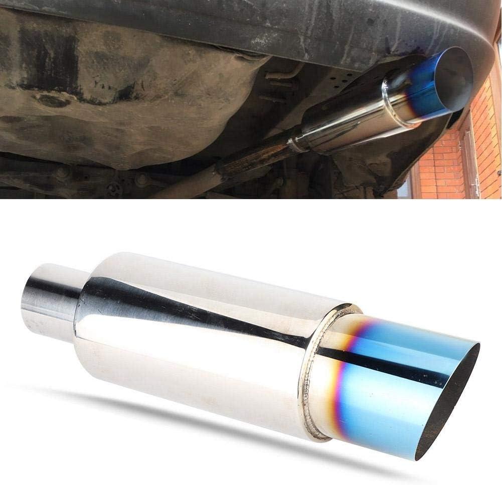 gerades Abgasrohr Auto Auspuff Auspuff Resonator Kanister gro/ßkalibriges Suuonee Auspuff HB227