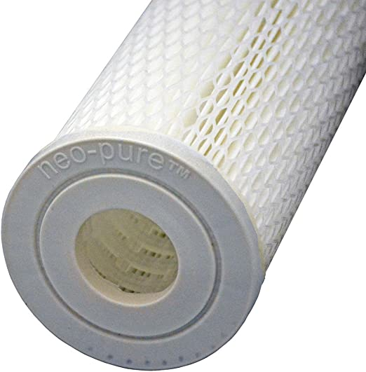 801-5 Micron Pleated Sediment Filter Cartridges 2pk Harmsco Water Filters White