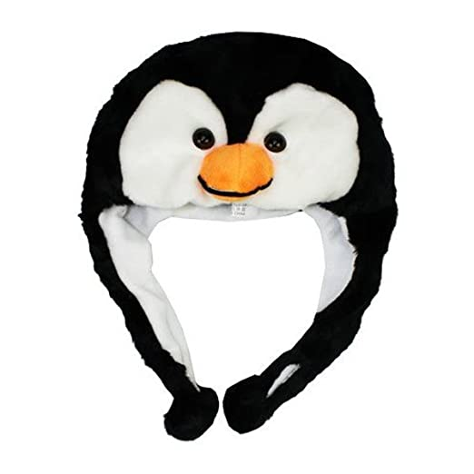 c03220e5 Image Unavailable. Image not available for. Color: PENGUIN Ski Hat Animal  Hat Fleece lined
