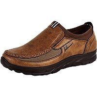 Jianhui Tendencia Hombres Zapatos Mocasines Cuero - Casual Slip On Entrenadores Comfort Breathable Walking Leisure Business Shoes Flats