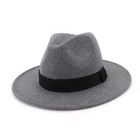 Ruanyi Women Men Fedora Wool Cotton Polyster Hat For Winter Autumn Elegant  Lady Dad Trilby Homburg 8434ca44897