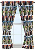 "Best Star Wars Home Curtain Panels - Star Wars Classic 63"" Drapery /Curtain 4pc Set Review"