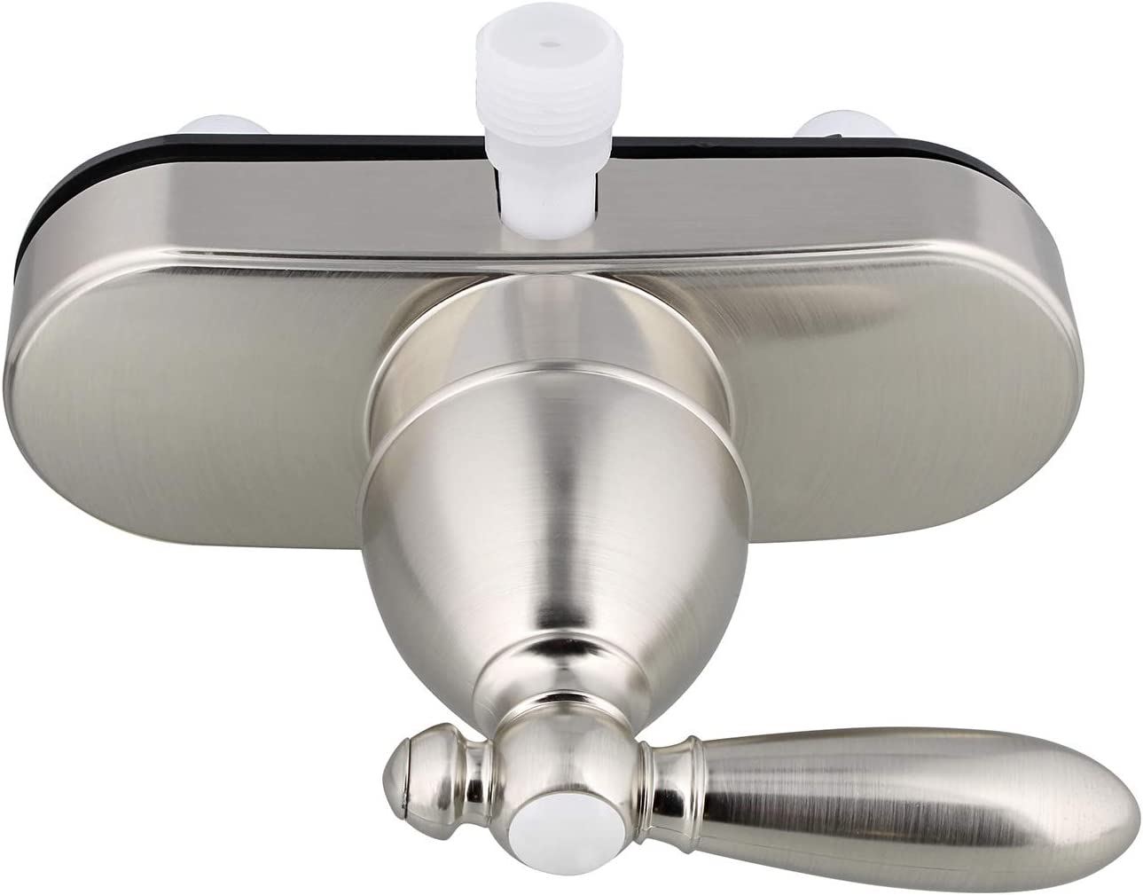 Empire Faucets RV Shower Valve Kit - 4 Inch Shower Diverter Valve and Vacuum Breaker Unit with Lever Handle, Nickel