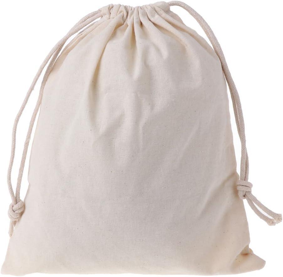 Xuniu Bolsas de algodón Natural con cordón, Bolsa de ...