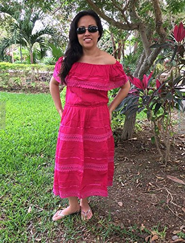 4f904977cc93 Amazon.com: Campesino fucsia mexican dress for 15-18 years old woman:  Handmade