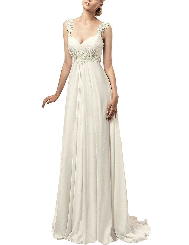 Lampang Lace Up Beach Chiffon Wedding Dress for Women