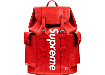 c47cb9bb2855 Image Unavailable. Image not available for. Color  Louis Vuitton x Supreme  Christopher Backpack Epi PM ...