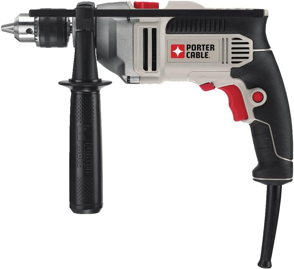 PORTER-CABLE Hammer Drill, 1 2-Inch, 7-Amp, Pistol Grip PCE141