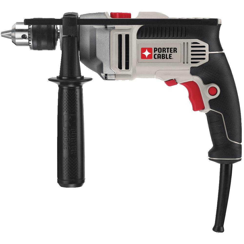 PORTER-CABLE Hammer Drill, 1/2-Inch, 7-Amp, Pistol Grip (PCE141) by PORTER-CABLE