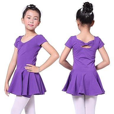 966712a77 Amazon.com  Valchirly Girls Gymnastic Leotard Dance Costume Dress ...