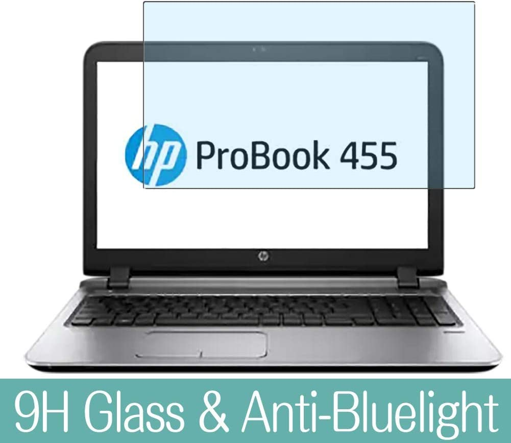 """Synvy Anti Blue Light Tempered Glass Screen Protector for HP ProBook 455 G3 15.6"""" Visible Area 9H Protective Screen Film Protectors"""