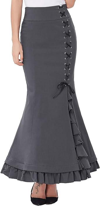 Belle Poque Enagua de Sirena Victoriana Vintage tamaño ...