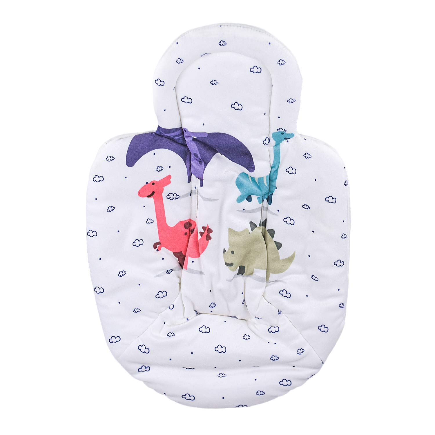 Topwon Newborn Infant Support Cushion Liner Body Support Pillow for Baby Swing/Bassinet (Dinosaur)