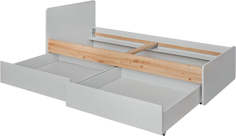 MSA Vivero 8 cama individual 99 cm de ancho con dos cajones y ...