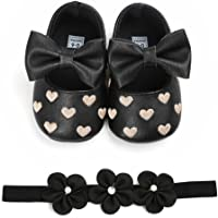 Voberry® Voberry® Unisex-Baby Stripe Bow Shoes Toddler Princess Flat Leather Moccasins
