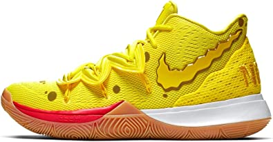 avaro Nuevo significado Increíble  Amazon.com: Nike Kyrie 5 Youth GS SBSP - Bob Esponja (6 años), color  amarillo: Shoes