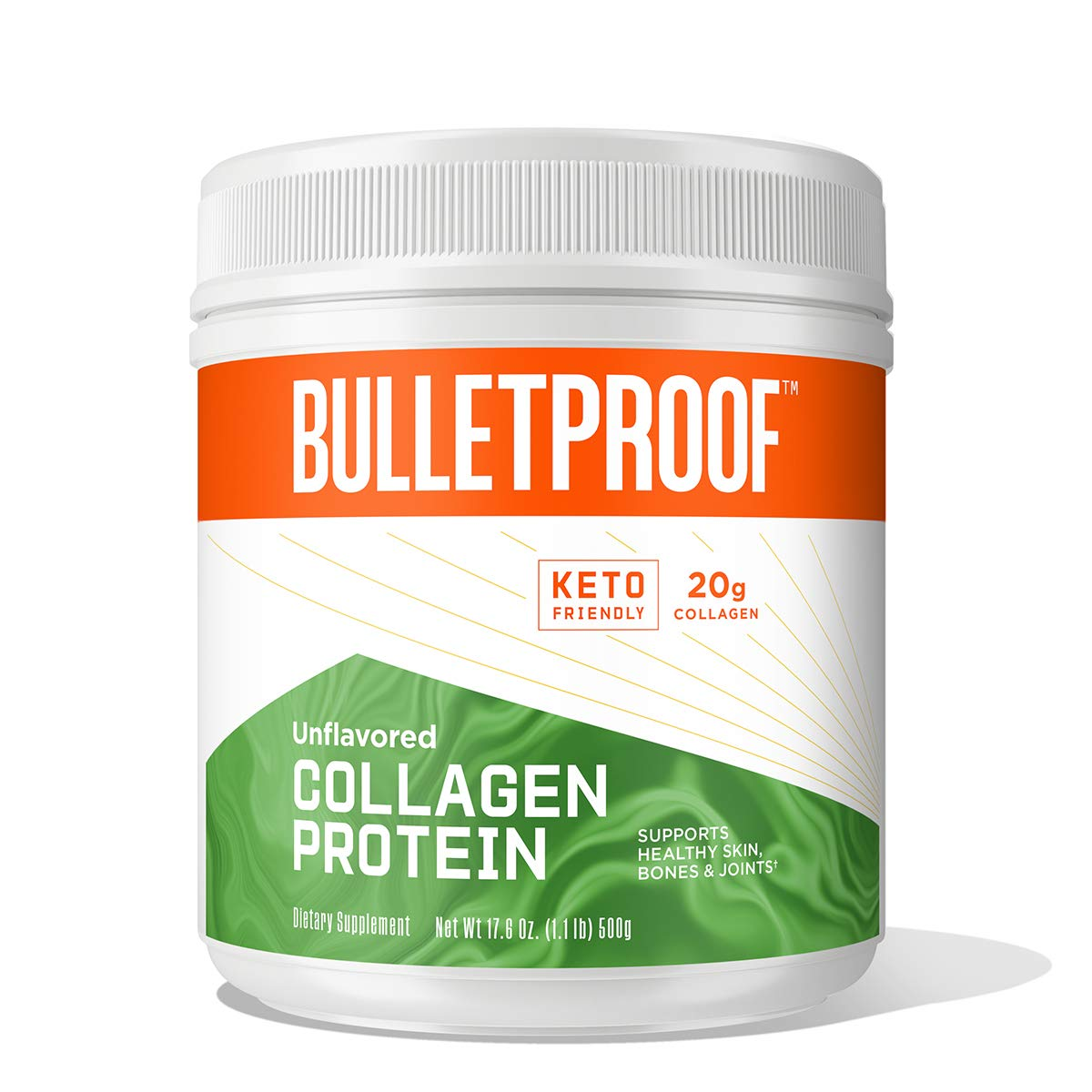 Unflavored Collagen Protein Powder, 18g Protein, 17.6 Oz, Bulletproof Grass Fed Collagen Peptides and Amino Acids for Healthy Skin, Bones and Joints