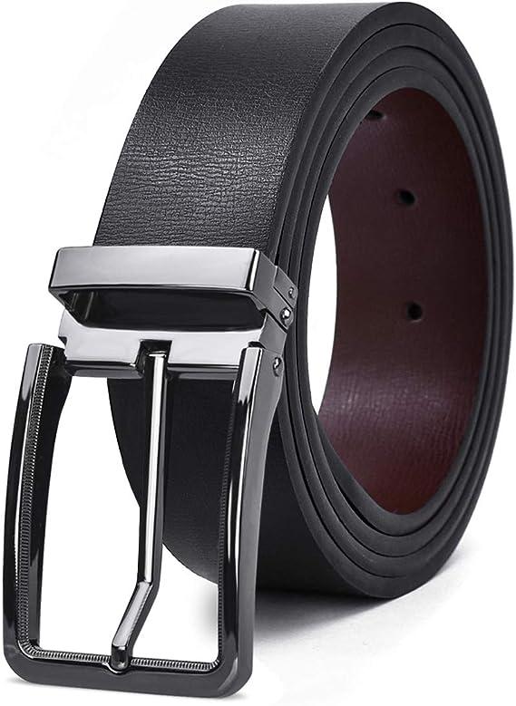 Cinturones Hombre Piel Ajustable Reversibles Cinturones de Cuero Retirable  Alfiler Hebilla Negocio Informal Cinturones para Hombre Marrón Negro:  Amazon.com.mx: Ropa, Zapatos y Accesorios