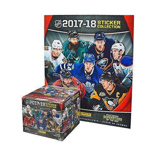 Panini NHL All Teams 2017/18 Sticker Refill Box (50 Count), Small, Black ()
