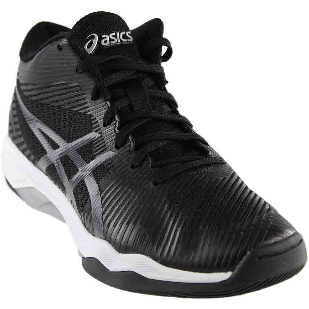ASICS Men's Volley Elite FF MT Volleyball Shoe, Black/Dark Grey/White, 8.5 Medium US by ASICS