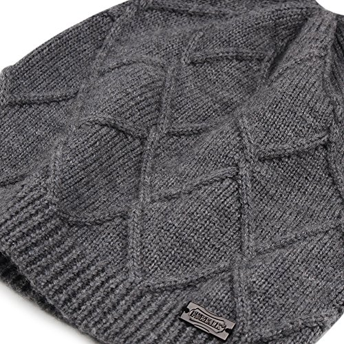 Winter Knit Hats For Women- Cashmere And Merino Wool Slouchy Beanie Skull Hat Caps FURTALK Designed