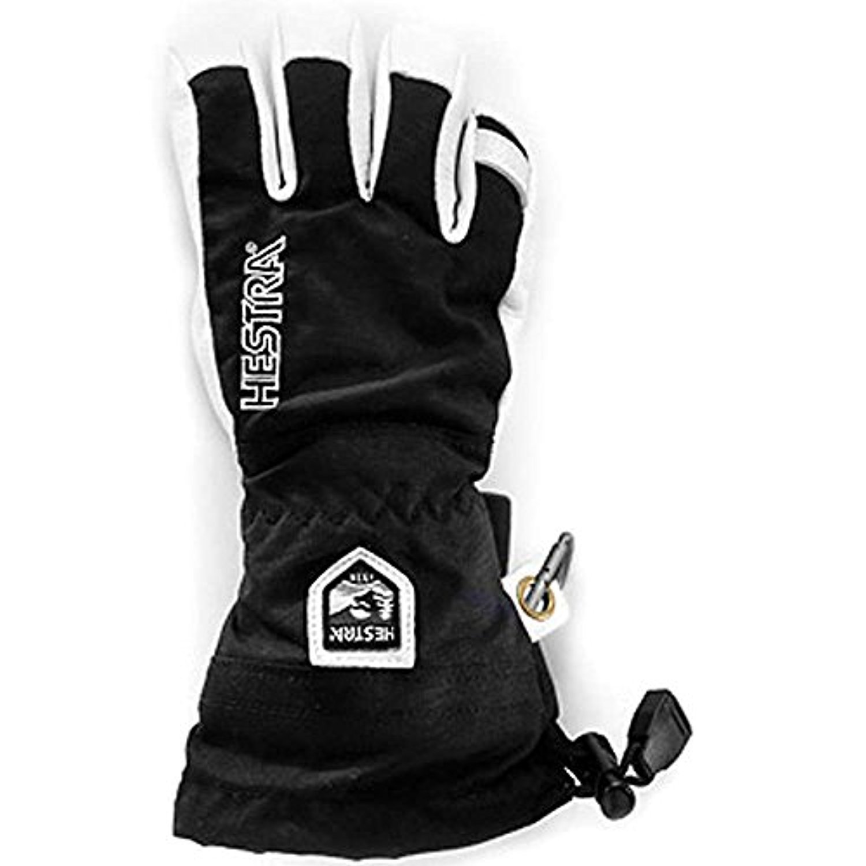 Hestra Youth Army Leather Heli Ski Jr. 5 Finger Gloves Black 5 & Knit Cap Bundle by Hestra, USA