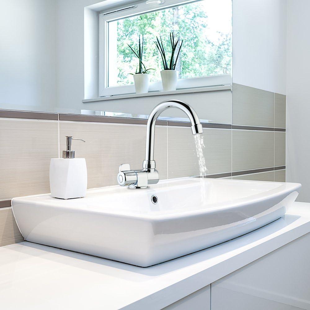 Blusea Wasserhahn Für Wohnmobil Wandmontage Drehbar Hochwertiger Küchenarmatur Für Wohnmobil Wohnmobil Reiseanhänger Küche Haushalt