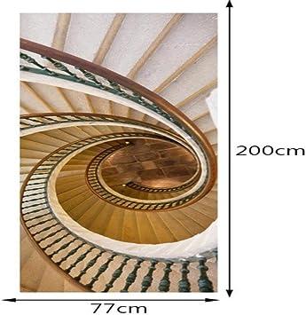 FCFLXJ Autoadhesivo Papel pintado de la puerta Escalera de caracol Cartel de la puerta 3D Bricolaje Etiqueta de la puerta Foto Fondo de pantalla HD Imprimir Oficina Inicio Dormitorio Decor 80X200CM: Amazon.es: