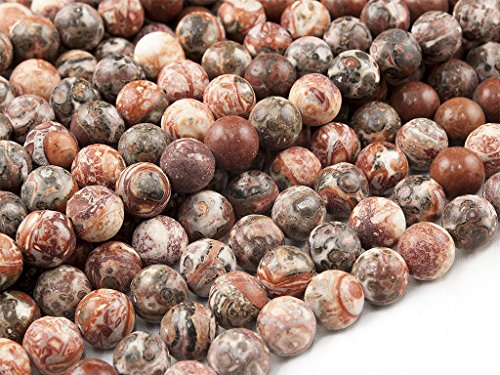 Green Forest Gems, DIY, Leopard Skin Jasper, Natural, 4mm, Plain Round Semi-precious Gemstone Bead, About 38cm a Strand. (Please click to see other options.) - Leopard Skin Jasper Round Beads