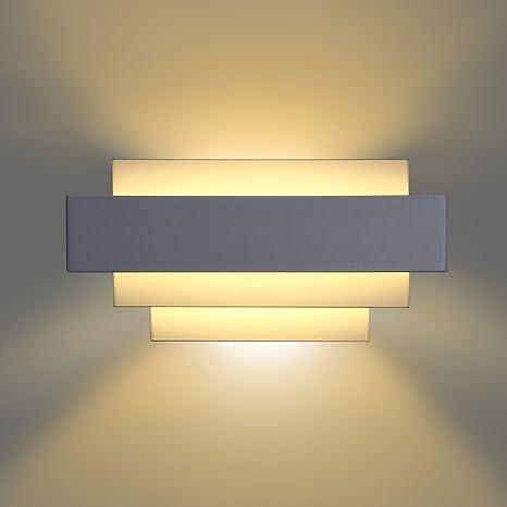 Asvert LED Applique Murale Intérieure 10W Appliques Murales Moderne  Eclairage Intérieur Lampe Murale pour Chambre Enfant Adulte Salon Escalier  Hôtel ...