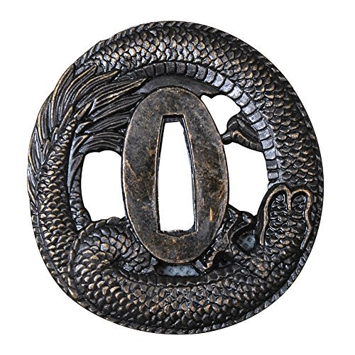 Shijian Alloy Tsuba Plated Dragon For Japanese Samurai Swords