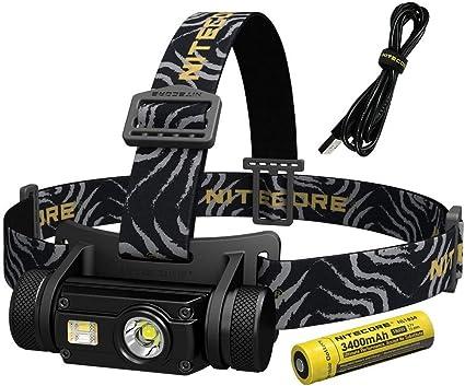 Nitecore Lampe Frontale Hc65 Lumens 1000 Port Eacutee 110m Rechargeable Eclairage Noir 0mm Amazon Fr Sports Et Loisirs