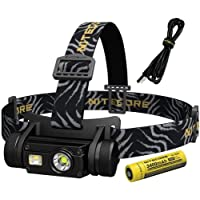 Nitecore HC65 1000 Lumen Multi-LED Output Micro-USB Rechargeable Headlamp, Youth-Unisex,Black