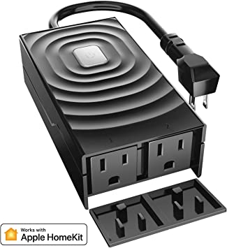 Google Home y SmartThings meross Enchufe Inteligente Exterior Impermeable Enchufe WiFi para Exterior App Remota Toma de Wi-Fi Inteligente Compatible con Alexa