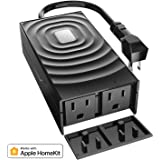 meross Smart Outdoor Plug, Waterproof WiFi Outdoor Outlet, Compatible with Apple HomeKit, Amazon Alexa, Google Assistant, Remote Control, Timer, FCC and ETL Certified