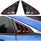 Thenice for 10th Gen Civic Racing Style Rear Side Window Louvers Air Vent Scoop Shades Cover Blinds for Honda Civic Sedan 202