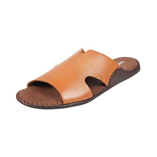 d8bbde7364d1 Mochi Men Tan Leather Sandals (16-9144)  Buy Online at Low Prices in India  - Amazon.in