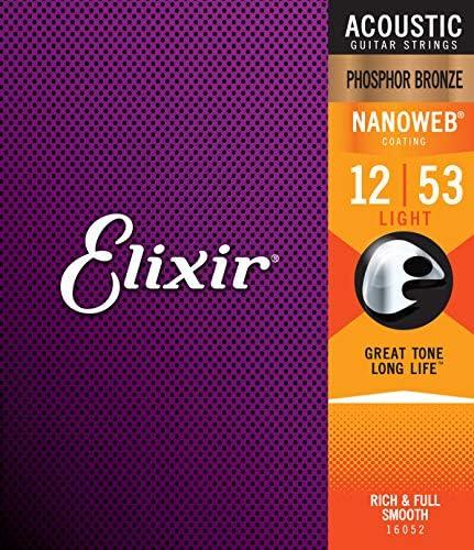 Elixir 16052 - Juego de cuerdas para guitarra acústica de fósforo ...