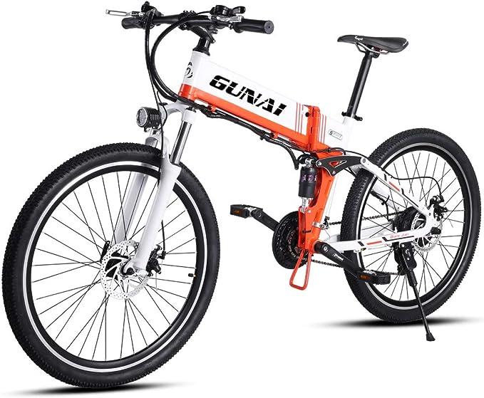GUNAI Bicicleta Electrica 48V 500W Bicicleta de Montaña 21 ...