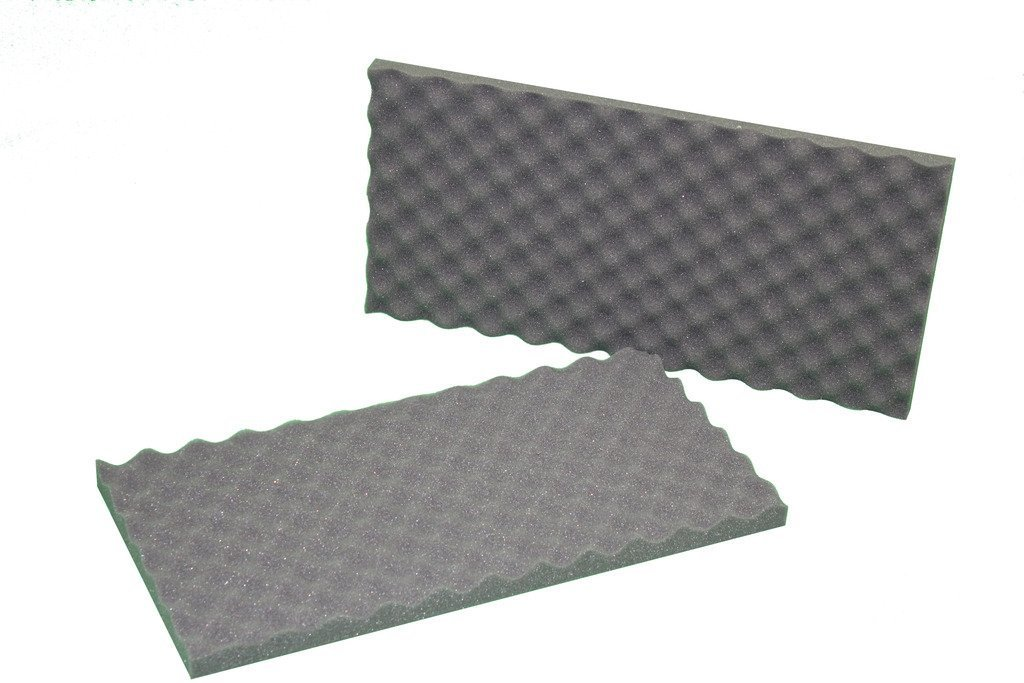 2''x16''x16'' Polyurethane Charcoal Convoluted Foam Packing Foam Set by Online Fabric Store