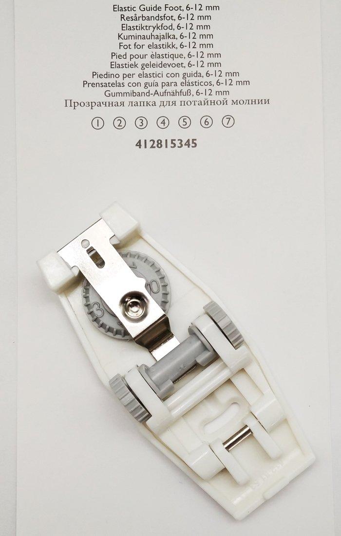 Guía de elástico pie se adapta a HUSQVARNA VIKING máquinas de coser #4128153-45