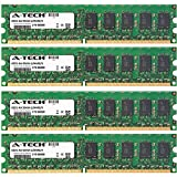8GB KIT (4 x 2GB) For Dell PowerEdge Series 830 840 850 860. DIMM DDR2 ECC Unbuffered PC2-4200 533MHz Single Rank RAM Memory. Genuine A-Tech Brand.