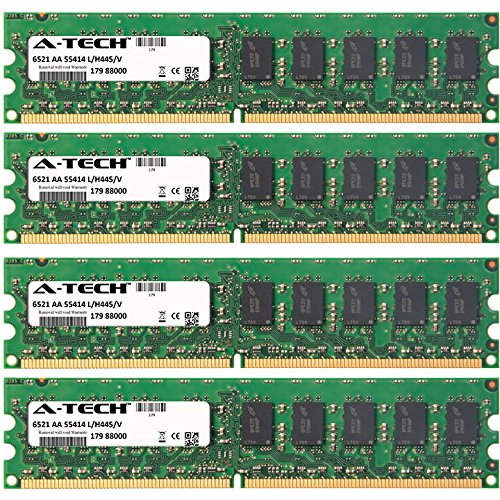 (8GB KIT (4 x 2GB) for HP-Compaq ProLiant Series ML110 G5 ML310 G5p. DIMM DDR2 ECC Unbuffered PC2-6400 800MHz RAM Memory. Genuine A-Tech Brand.)