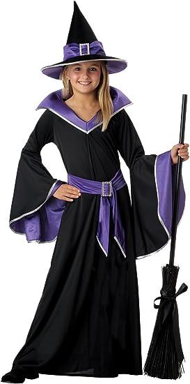 Disfraz de Bruja para niños - Negro, Azul - Talla 116 (3-5 años ...